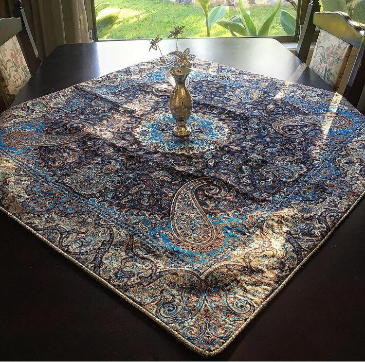 Bohemian Table Cloth( 1 Meter by 1 Meter)