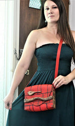 Genuine Leather and Wood Shoulder Bag ( Four Colours) - Treasures of Silk Road