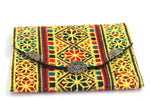 Yellow Hand Sewn Bohemian Clutch - Treasures of Silk Road