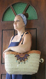 Large Hand Woven Tote/ Bag - Treasures of Silk Road