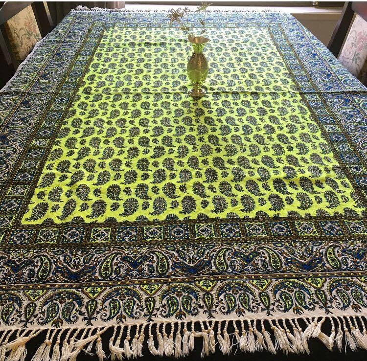 Large Bohemian hand Printed Table Cloth - Treasures of Silk Road