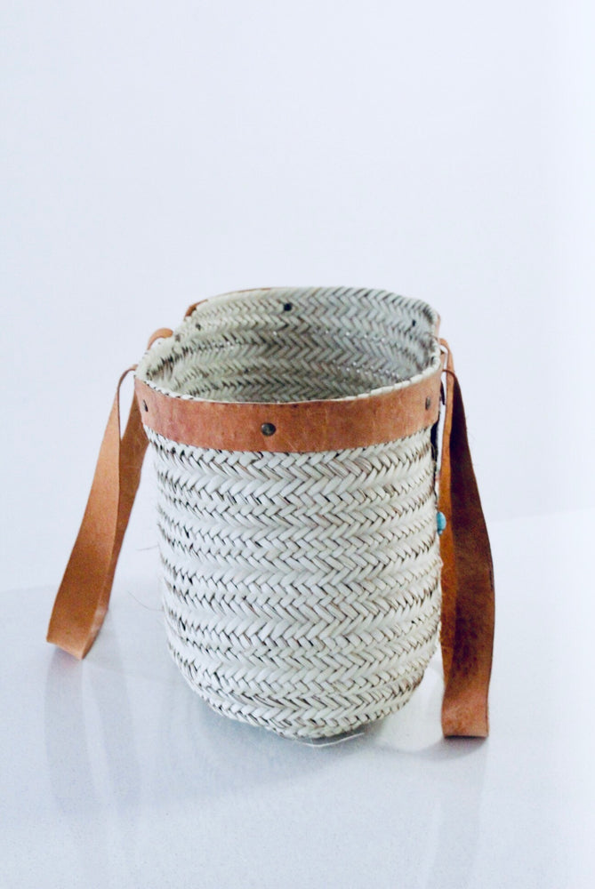 Large Woven Beach Tote/ bag with Yellow tassels - Treasures of Silk Road