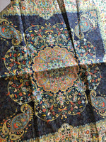 Dark Blue Bohemian Table cloth - Treasures of Silk Road