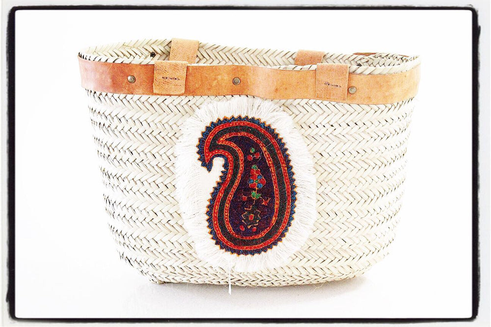 Large Hand Woven Beach Tote/ bag