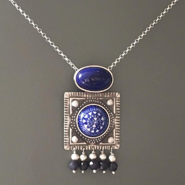 Preorder (Takes 5 Weeks) Sterling Silver decorated with Meenakari - Treasures of Silk Road
