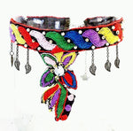 Hand Sewn Bohemian Colorful Choker - Treasures of Silk Road