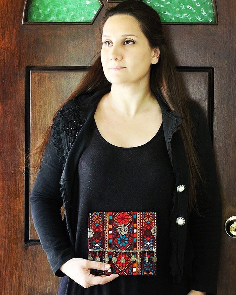 Hand Sewn Bohemian multi color Clutch - Treasures of Silk Road