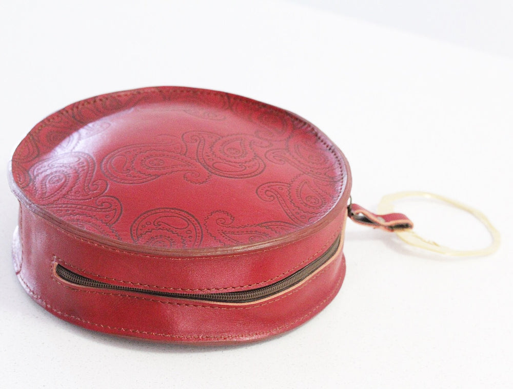 Mohabat (Kindness) Genuine Leather Clutch/ small handbag - Treasures of Silk Road