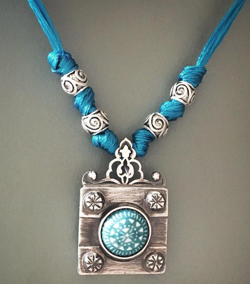 Pre Order (Takes 5 Weeks) Sterling Silver 925 decorated with Meenakari and Beads - Treasures of Silk Road