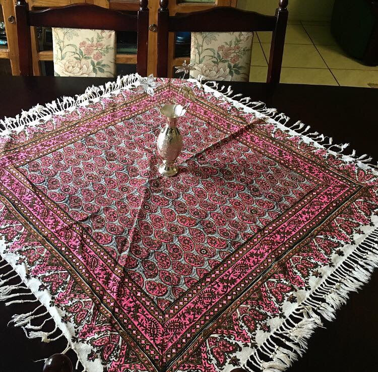 Bohemian Pink Table Cloth (One Meter by One Meter by one Meter
