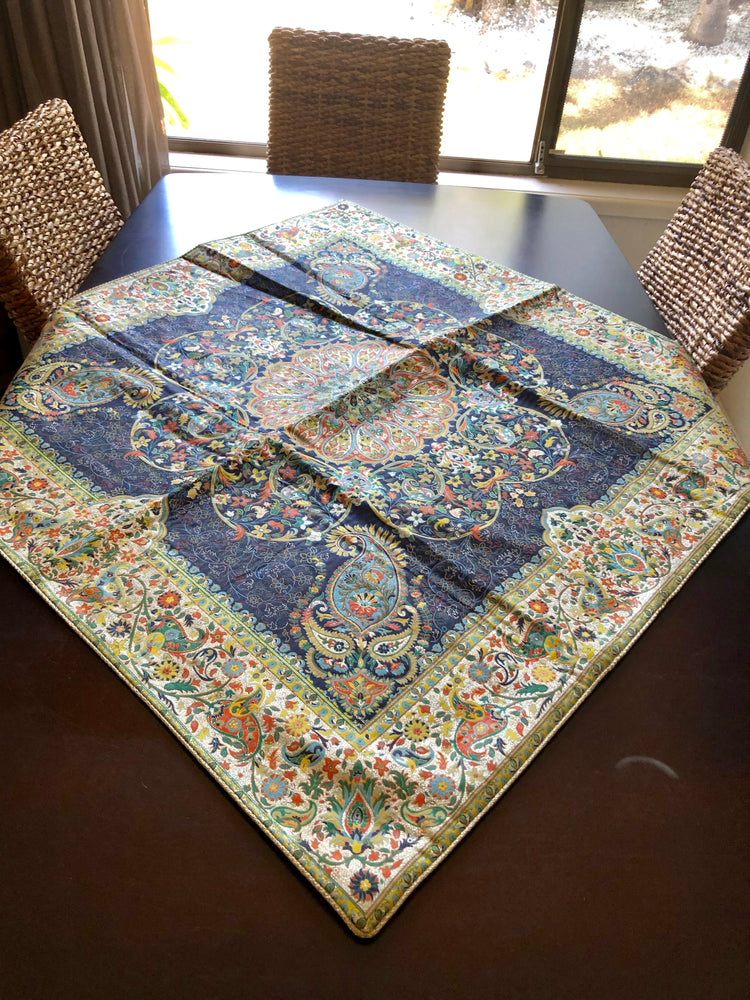 Dark Blue Bohemian Table cloth