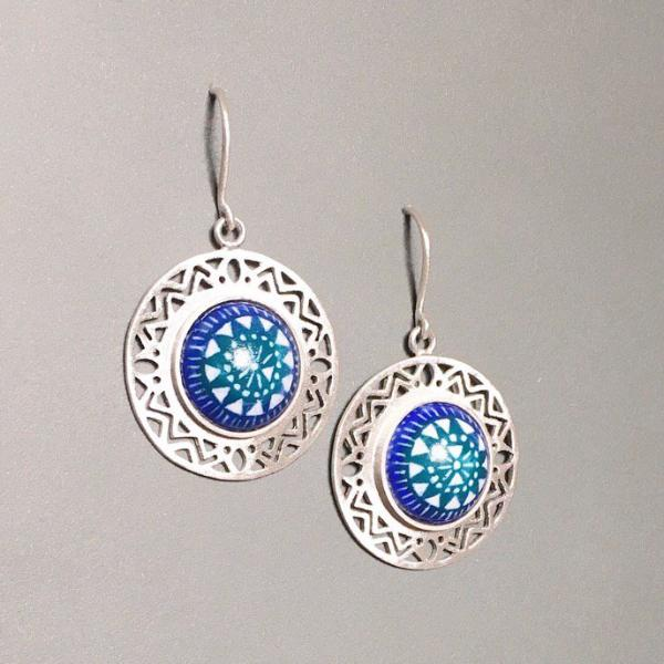 Pre Order (takes 5 weeks) Sterling Silver 925 mixed with Meenakari Exotic Earrings