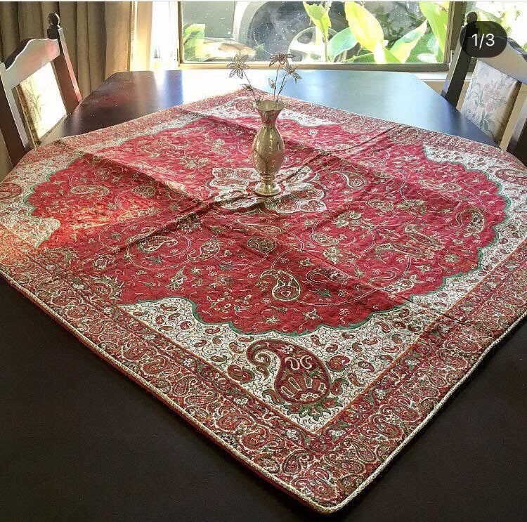 Bohemian table Cover ( 1 Meter by 1 Meter) - Treasures of Silk Road