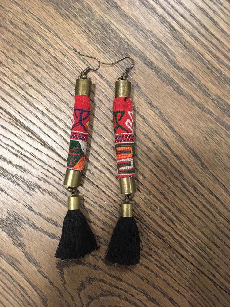 Long Tassel Tribal Style Bohemian Earrings