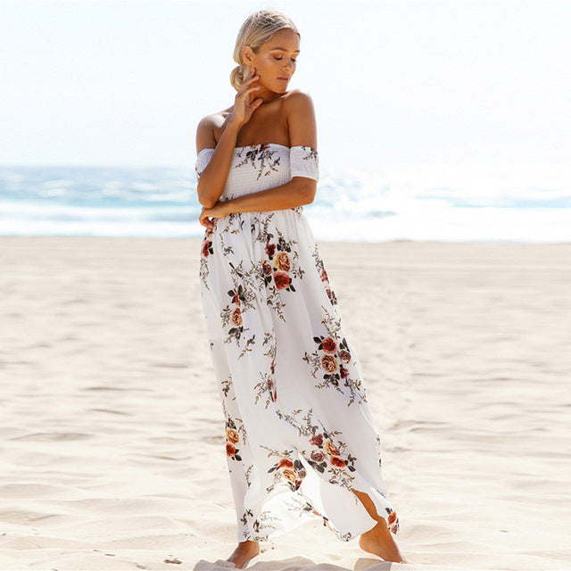 Floral Beach Dress - Tia-Nova