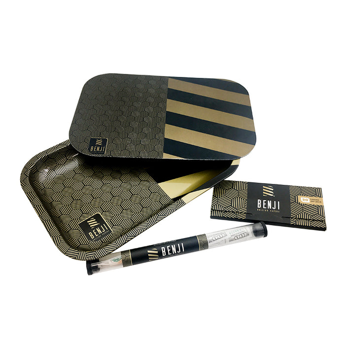 Benji Rolling Paper & Tray with Magnetic Lid Bundle
