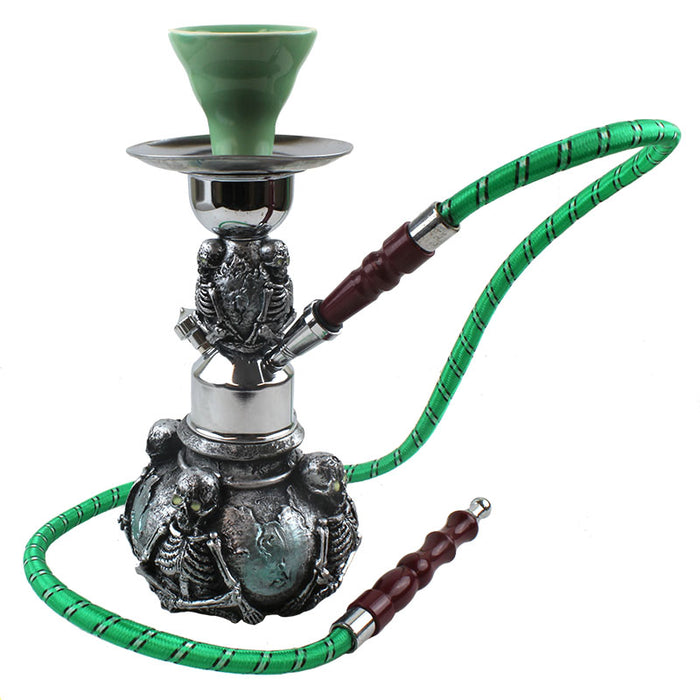 "10"" Skeleton Single Hose Pumpkin Hookah - Smoketokes"