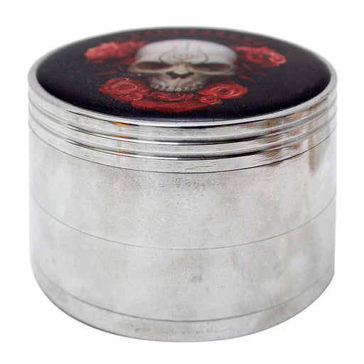 Aluminum 4 Part Assorted Sticker 63mm Grinder - Smoketokes