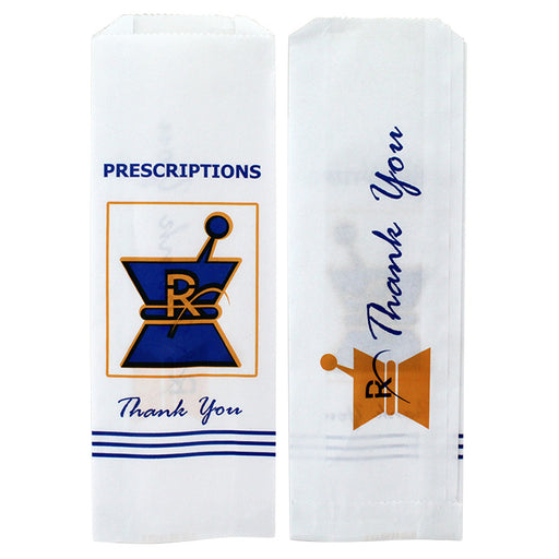 Kraft Pharmacy Paper Bags Small - Smoketokes