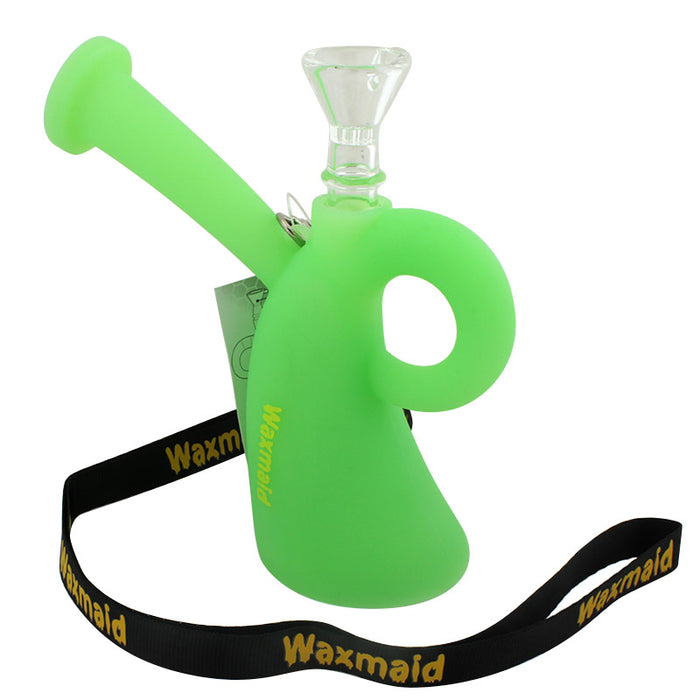 "5"" Waxmaid Miss Silicone Oil Rig - Smoketokes"