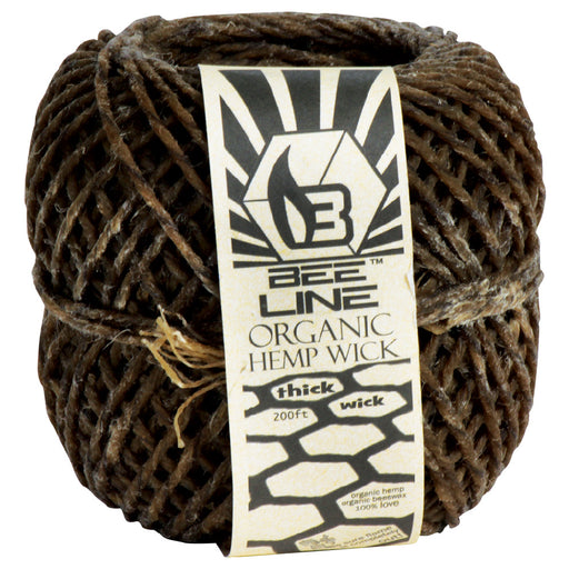 Bee Line Thick 200ft Organic Hemp Wick - Smoketokes