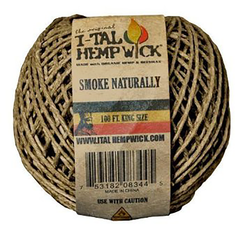 I-Tal 100ft Organic Hemp Wick - Smoketokes