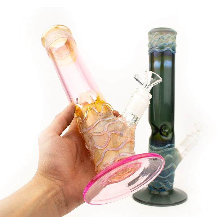 "13"" Serum Wig Glass Water Pipe"