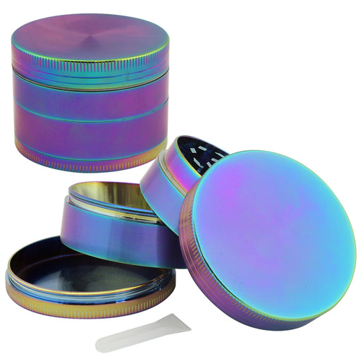 Anodized Zinc 4 Part Grinder 50mm - Smoketokes
