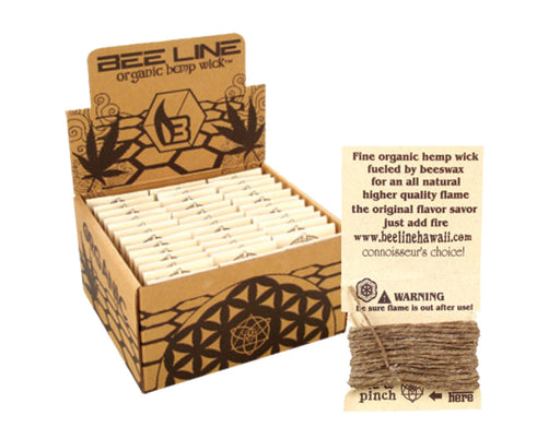 Bee Line Original 9ft Organic Hemp Wick 78 Pack - Smoketokes