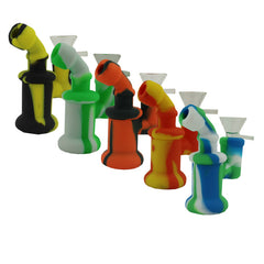 "4"" Mini Silicone Bubbler w/ Glass Bowl"