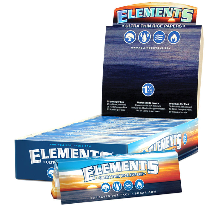 "Elements Perfect Fold 1 1/4"" Size Rolling Paper - Smoketokes"
