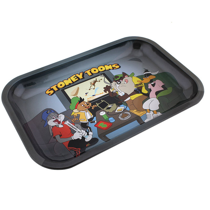 Stoney Toons Small Metal Rolling Tray - Smoketokes