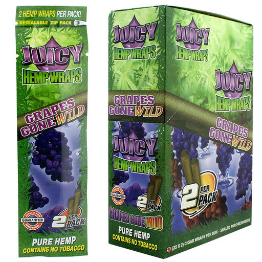 Juicy Hemp Wrap Grapes Gone Wild Flavor - Smoketokes