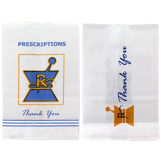 Kraft Pharmacy Paper Bags Large - Smoketokes