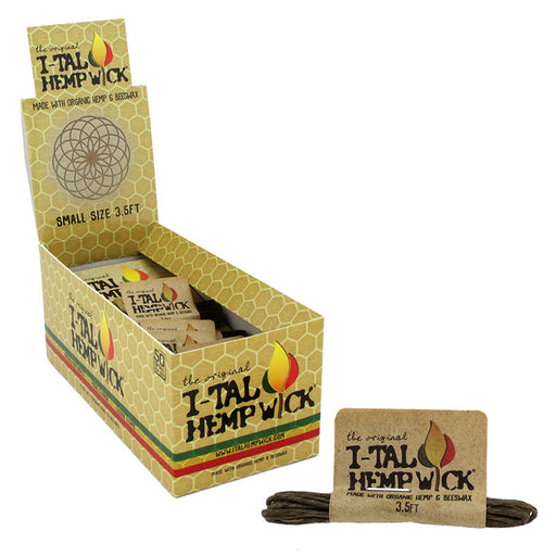 I-Tal Small 3.5ft Organic Hemp Wick 50 Pack - Smoketokes