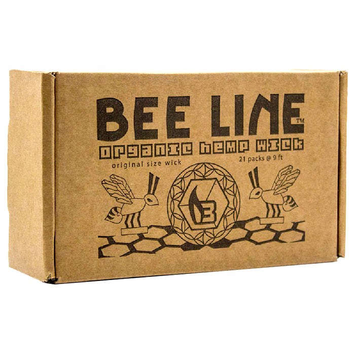 Bee Line Original 9ft Organic Hemp Wick 21 Pack - Smoketokes