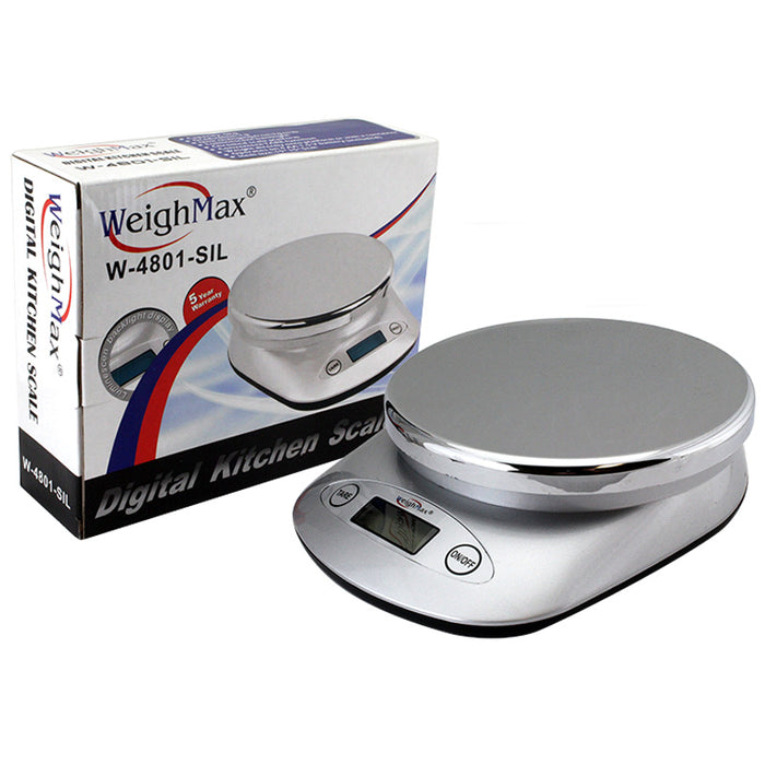 Weighmax W-4801-SIL Kitchen Scale - Smoketokes