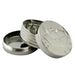 "3pt 2.5"" Silver Coin Grinder Display - Smoketokes"