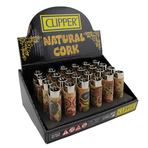 Clipper Paisley Natural Cork Lighter - Smoketokes