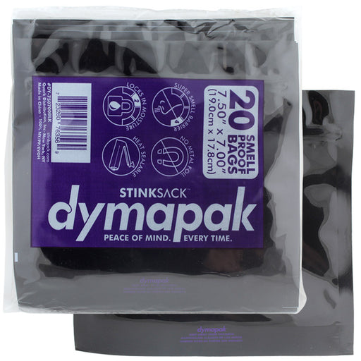 Stink Sack Dymapak Ziplock Bag 1oz Black 20pk - Smoketokes