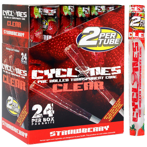 Cyclones Clear Cone Strawberry Flavor - Smoketokes