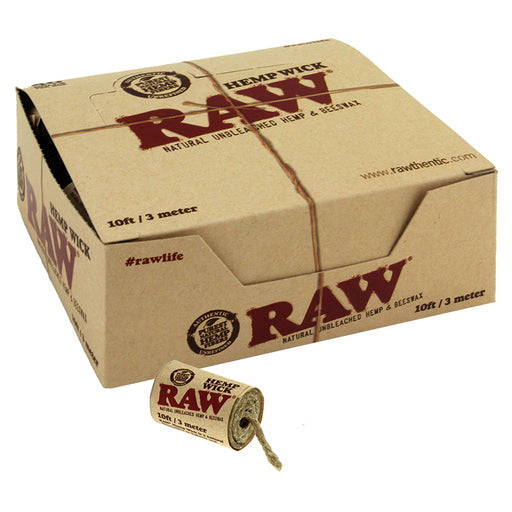 Raw Hemp Wick 10ft 40ct - Smoketokes