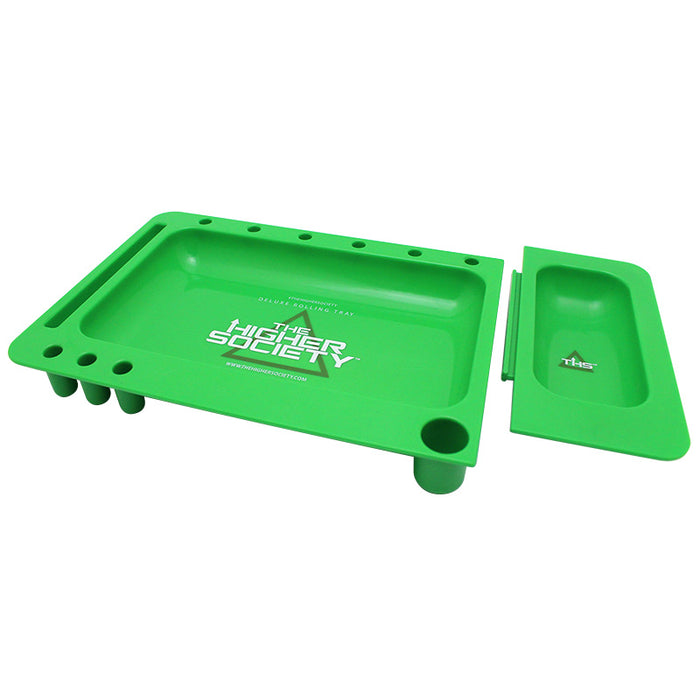 Deluxe Acrylic Rolling Tray by The Higher Society - Smoketokes
