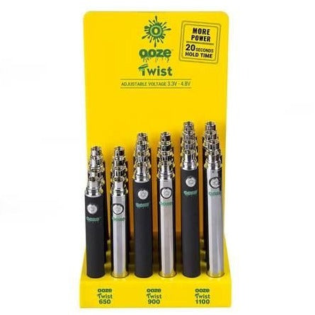 Ooze Twist Vape Battery Display - 24ct.