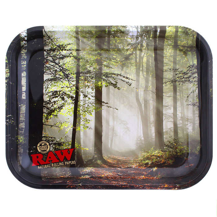 Raw Forest Large Metal Rolling Tray - Smoketokes
