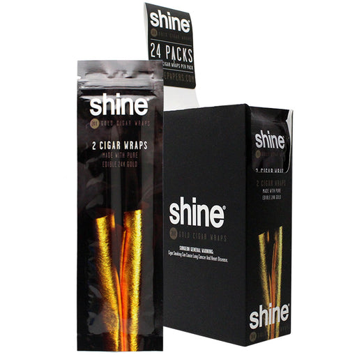 Shine Gold Cigar Wraps - Smoketokes