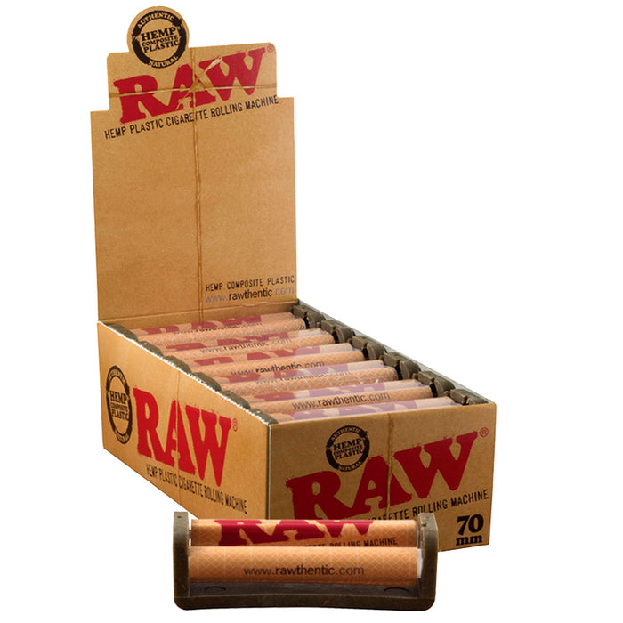 Raw 70mm Cigarette Roller 12pc Box - Smoketokes