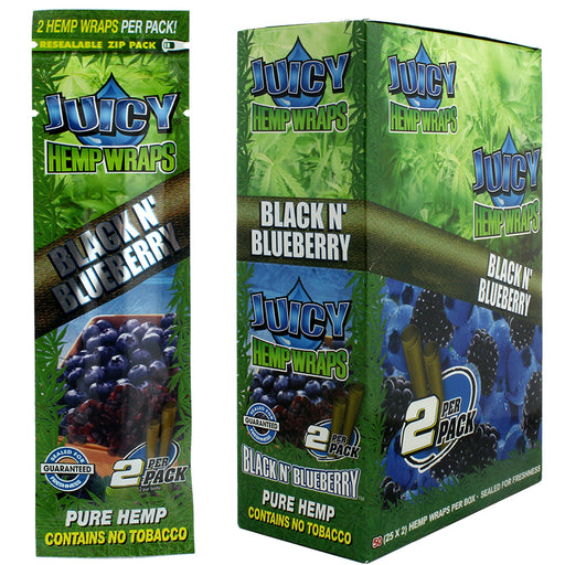 Juicy Hemp Wrap Black N' Blueberry Flavor - Smoketokes