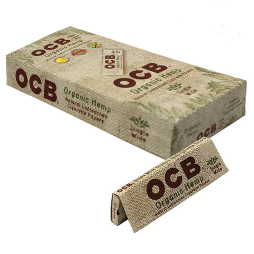 OCB Organic Hemp Single Wide Rolling Paper - Smoketokes
