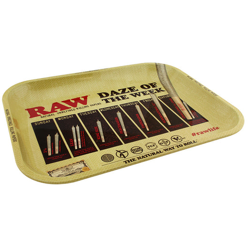 Raw Daze Large Metal Rolling Tray - Smoketokes